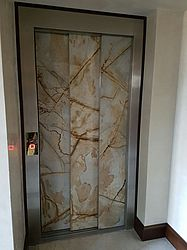exclusive elevator cladding with natural stone for villa in Baden Baden